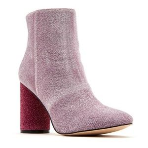 Katy Perry The Mayari Pink Glitter Boots